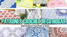 Patrones Crochet de Tapetes, Cortinas y Manteles Rugs, Home Decor, Doily Patterns, Crochet Blankets, Table Toppers, Be Creative, Christmas Crafts, Border Tiles, Free Pattern