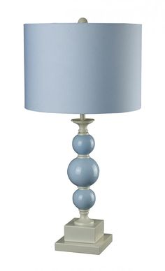 One Light Blue Table Lamp | Williams Lighting Galleries