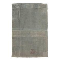 HK-living Vloerkleed vintage grijs canvas 180x280cm - wonenmetlef.nl