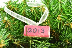 Year 2013 Christmas Domino Ornament on Etsy, $8.00