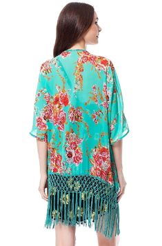 d4e3203be6 Womens Sexy Cardigan Chiffon Printed Tassels Bikini Cover Up(US Shipping) -  CB11WQAJ3A5