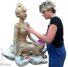 Stage de sculpture sur papier maché