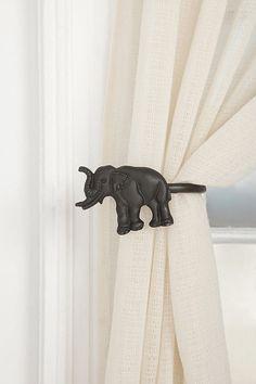 Elephant Curtain Tie-back