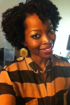 Flat twist out on natural hair-natural hair style