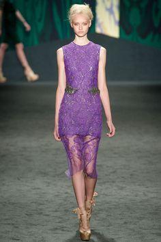 Vera Wang Spring 2013 Ready-to-Wear Fashion Show - Nastya Kusakina