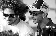 """""""Oggi sono due anni senza quel patacca del Sic, pilota di meraviglioso talento e grande amico#58 sempre nel cuore.""""  (via facebook  Valentino Rossi VR 46 Official)"""