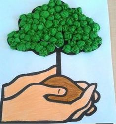 tree and forest Earth Day Activities, Art Activities, Art For Kids, Crafts For Kids, Earth Day Crafts, Environment Day, Arbour Day, Paper Crafts Origami, Art Classroom