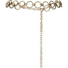 TopShop Metal Link Belt featuring polyvore women's fashion accessories belts gold chain belt topshop belts topshop