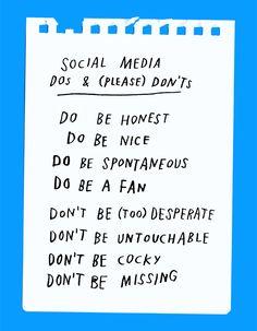 Social Media DOs & (Please) DON'Ts