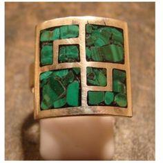 anillo plata 925, calado soldado,reconstituido
