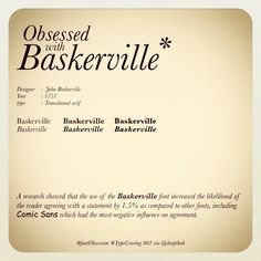 #typeCraving #typography #baskerville #design