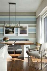 Neutrals and pale blues in horizontal stripes