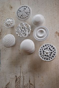 From etsy.   What a brilliant idea!  Why not get every knob you love? Just remember to be consistent and keep it in the same color group! What do you think? #accessories, #knobs, #home, #white