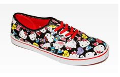 Vans X Hello Kitty Authentic Lo Pro: Collage In Designer Collections Vans® Shoes At Sanrio Hello Kitty Vans, Hello Kitty Themes, Hello Kitty Birthday, Kitty Kitty, Cool Vans Shoes, Me Too Shoes, Vans Sneakers, Hello Kitty Collection, Sock Shoes
