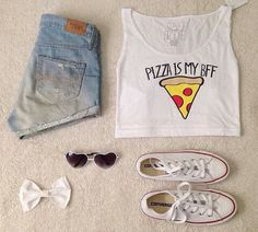 Teenage Fashion Blog: Cute Teenage Outfit # Only That Girls Who Like Piz...