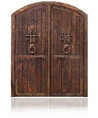 Afficher l'image d'origine Cool Doors, Unique Doors, Wooden Gates, Wooden Doors, Arched Doors, Windows And Doors, Medieval Door, Custom Gates, Knobs And Knockers