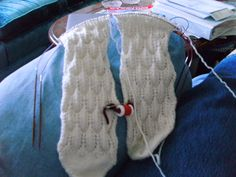 Feather Lace socks for Aunt Beverley