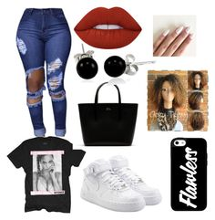 """""""Beyonce Tour"""" by jamiahh on Polyvore featuring NIKE, Lacoste, Bling Jewelry and Lime Crime"""