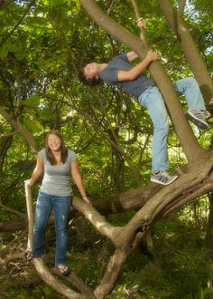 My twin niece and nephew share a spontaneous moment for their senior portraits.