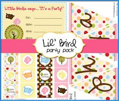 Printables: Free Lil' Bird Party Pack