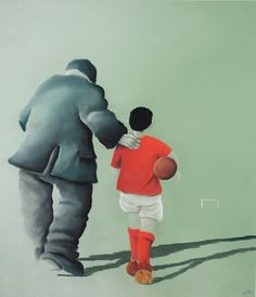 The Perfect Match Limited Edition signed print Mackenzie Thorpe You'll Never Walk Alone, Middlesbrough, London Art, International Artist, Sign Printing, North Yorkshire, Limited Edition Prints, Fine Art Gallery, Perfect Match