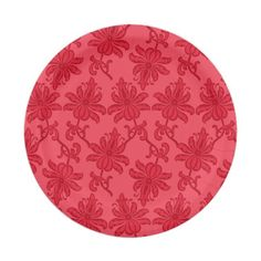 Holiday Floral Christmas Party 7 Inch Paper Plate