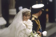 Wedding of Prince Charles and Lady Diana Spencer bring crowds of 60,000 lined up on London's streets to watch them go by.