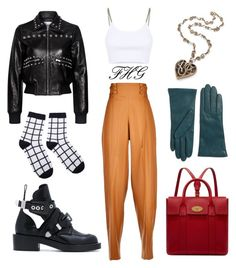 """""""I Love Crop Top #042580"""" by fashionhuntergirl on Polyvore featuring Marco de Vincenzo, Alexander Wang, RED Valentino, Balenciaga, Mulberry, Lord & Taylor, croptop, CasualChic and texturemixture"""