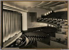 City Theater, Amsterdam, 1935-36. Architect: J. Wils en O. Rosendahl / The New Institute [http://www.flickr.com/photos/nai_collection/] | #nosolotecnicabupm