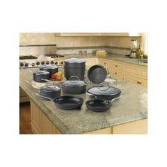Nonstick Cookware Set 17 Piece Aluminum Titanium Kitchen Pots Pans Skillets #Cuisinart