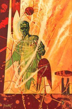 Richard Powers, Doctor Solar: Man of the Atom 1962 Gold Key Comics. Psychedelic Space, Richard Powers, 70s Sci Fi Art, Sci Fi Books, Science Fiction Art, Retro Futurism, Cover Art, Fantasy Art, Book Art