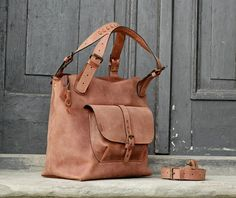woman bag natural leather handmade bigger size ladybuq art Alicja