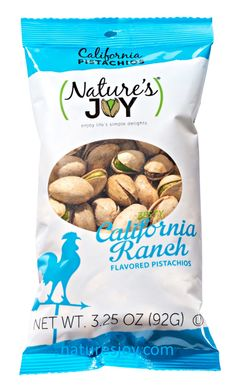 Nature's Joy Zesty California Ranch flavored pistachios.  YUM!