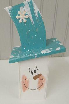 Snowman Head/Winter Home Decor/Christmas Decor/Winter image 6 Snowman Decorations, Snowman Crafts, Christmas Tree Decorations, Halloween Crafts, Primitive Wood Crafts, Wooden Crafts, Diy And Crafts, Primitive Christmas, Rustic Christmas