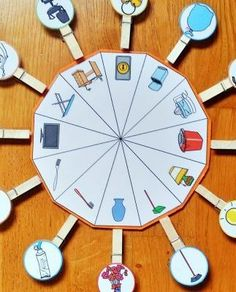 Ruleta_Objeto_Casa_pictogramas_ARASAAC Creative Activities For Kids, Educational Games For Kids, Crafts For Kids, Montessori Activities, Infant Activities, Transportation Activities, Autism Education, Special Education, Science Experiments For Preschoolers