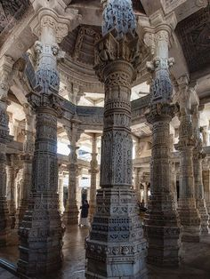 Ranakpur jain temple in Rajasthan, India