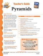 FREE, printable 12-page lesson plan for Kids Discover Pyramids