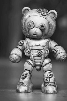 steampunktendencies: Steampunk Bearguy by. steampunktendencies: Steampunk Bearguy by Kevin Tan Plus Robots Steampunk, Design Steampunk, Steampunk Kunst, Steampunk Animals, Mode Steampunk, Style Steampunk, Steampunk Fashion, Gothic Steampunk, Steampunk Clothing