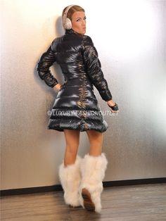 Down Puffer Coat, Down Coat, Trendy Fashion, Winter Fashion, Womens Fashion, Nylons, Coats For Women, Jackets For Women, Cool Jackets