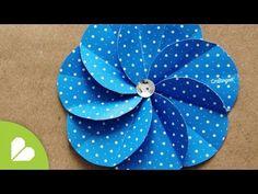 Flor Espiral - Flor de Livro de Recortes - YouTube