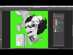 ▶ Screen Print Effect | Japanese Geisha | Photoshop, Illustrator Tutorial - YouTube