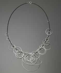 heather guidero circle bunches necklace oxidized + matte sterling silver $1100
