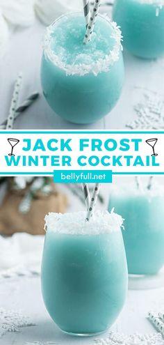 Liquor Drinks, Cocktail Drinks, Cocktail Ideas, Christmas Drinks, Holiday Drinks, Refreshing Drinks, Yummy Drinks, Winter Cocktails, Blue Cocktails