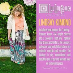 I just added the new Lindsay Kimonos into my shop! Check them out-they come in a…