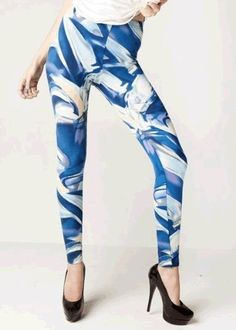 New Wave Printed Cotton Leggings Yelete. $21.99. Gift wrapping and messaging available upon Checkout. 95% Cotton, 5% Spandex. High Quality