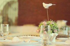 decoração batizado rosa passarinho