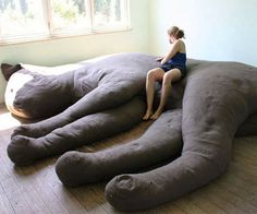 Giant Cat Shaped Couch http://www.thisiswhyimbroke.com/giant-cat-shaped-couch