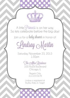 Little Princess Baby Shower Invitation by GeminiCelebrations