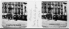 Año 1902 calle de la Arganzuela fotografía esteroscópica de Arcimis