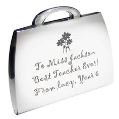 Personalised Flowers Teacher Handbag Compact Mirror | £12 | Special Moment